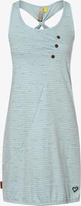 Niebieska sukienka Alife And Kickin mini w stylu casual