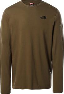 Zielona koszulka z długim rękawem The North Face w stylu casual z długim rękawem