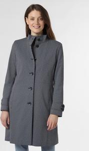 Granatowy płaszcz Cinque w stylu casual z żakardu