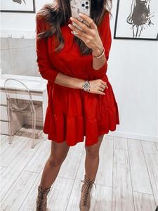 Czerwona sukienka magmac.pl mini trapezowa