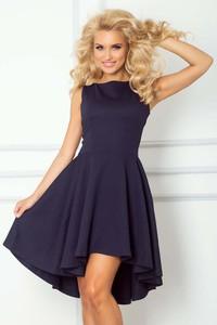 Niebieska sukienka Coco Style midi asymetryczna bez rękawów