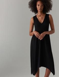 Czarna sukienka Mohito w stylu casual bez rękawów z dekoltem w kształcie litery v