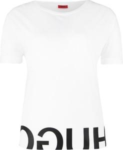 T-shirt Hugo Boss z okrągłym dekoltem w stylu casual z bawełny