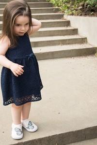 Granatowa sukienka dziewczęca El Piloto z dzianiny