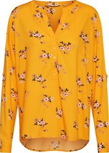 Żółta bluzka Tom Tailor z długim rękawem