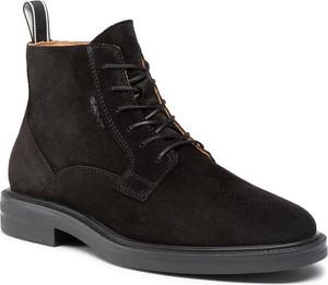 Czarne buty zimowe Gant sznurowane