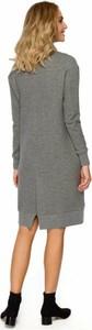 Sukienka MOE w stylu casual z bawełny z długim rękawem