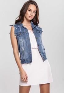 Niebieska kamizelka Renee z jeansu