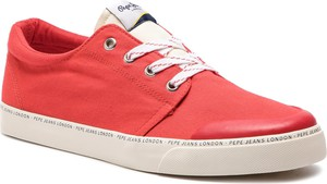 Sneakersy PEPE JEANS - Traveller Basic Man PMS30541 Red 255