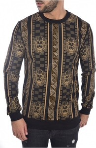 Sweter Goldenim Paris w młodzieżowym stylu z wełny z okrągłym dekoltem