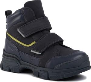 Granatowe buty dziecięce zimowe Lasocki Young