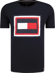 Czarny t-shirt Tommy Hilfiger z krótkim rękawem