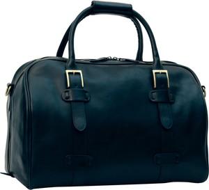 Granatowa torba podróżna Officina 66 ze skóry