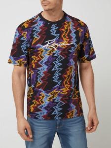 T-shirt Review z krótkim rękawem z nadrukiem w młodzieżowym stylu