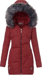 Czerwona kurtka fasoni.pl w stylu casual długa