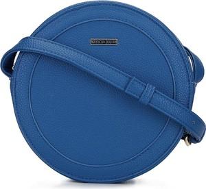 Niebieska torebka Wittchen na ramię średnia matowa