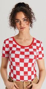 Bluzka Cropp w młodzieżowym stylu z krótkim rękawem