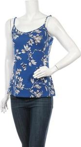 Niebieska bluzka Pep na ramiączkach z okrągłym dekoltem