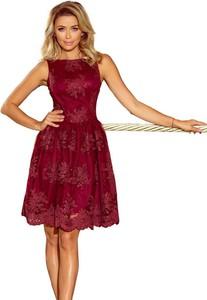 Czerwona sukienka NUMOCO mini rozkloszowana bez rękawów