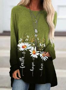 Zielona bluzka Cikelly z długim rękawem