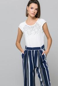 Bluzka Monnari z krótkim rękawem w stylu glamour
