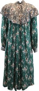 Zielona sukienka Tela z długim rękawem