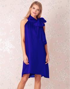 Niebieska sukienka Kasia Zapała mini z szyfonu