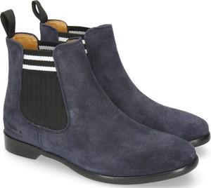 Niebieskie botki Melvin & Hamilton w stylu casual z płaską podeszwą