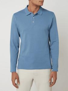 Niebieska koszulka polo Montego z bawełny