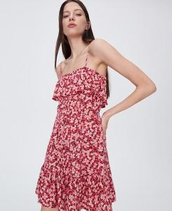 Pomarańczowa sukienka Sinsay na ramiączkach
