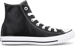 Czarne trampki Converse ze skóry all star w street stylu