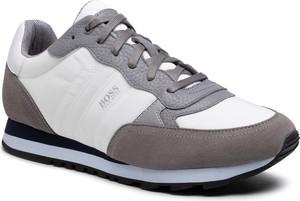 Buty sportowe Hugo Boss z zamszu