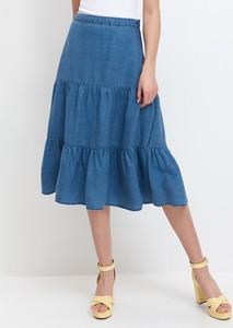 Niebieska spódnica Mohito z jeansu