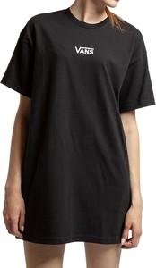 Czarna sukienka Vans mini z okrągłym dekoltem z krótkim rękawem