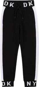 Czarne spodnie dziecięce DKNY