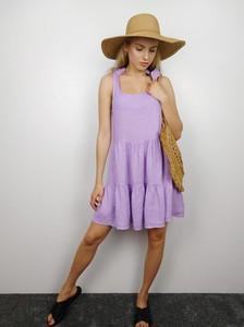 Sukienka fagobutik.pl z lnu mini