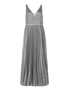 Srebrna sukienka My Mascara Curves z dekoltem w kształcie litery v bez rękawów