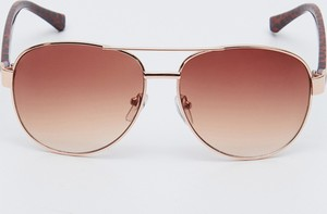 Złote okulary damskie Sinsay