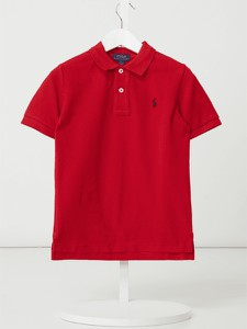Czerwona koszulka dziecięca Polo Ralph Lauren Kids z bawełny