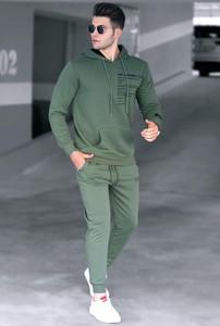 Zielony dres IVET w stylu casual z dresówki
