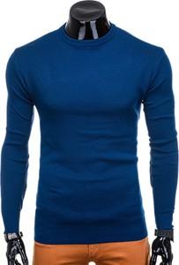 Niebieski sweter Edoti w stylu casual