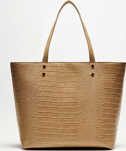 Brązowa torebka Moodo duża w wakacyjnym stylu ze skóry