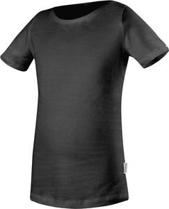 Czarna koszulka dziecięca Rennwear z bawełny z krótkim rękawem