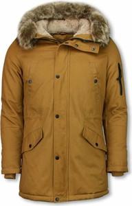 Brązowa kurtka ENOS w stylu casual