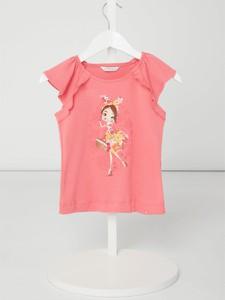 Różowa bluzka dziecięca Mayoral z bawełny