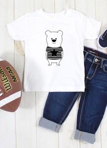 Koszulka dziecięca ilovemilk.pl dla chłopców z bawełny
