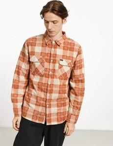 Pomarańczowa koszula Brixton z bawełny z długim rękawem