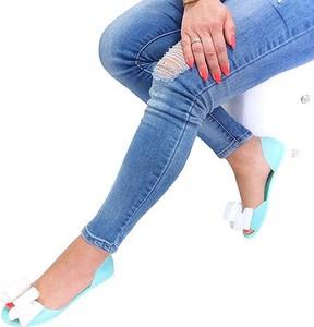 Turkusowe sandały HAVER z płaską podeszwą