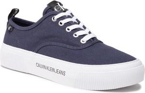 Calvin Klein Jeans Tenisówki Vulcanized Skate Oxford Co YM0YM00023 Granatowy