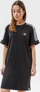 Czarna sukienka Adidas prosta z krótkim rękawem mini